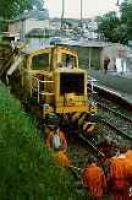 Track maintenance at Bearsden. View looks east towards station.<br><br>[Ewan Crawford //]