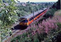 Class 303 heading towards Bearsden after leaving Westerton when line was still double track.<br><br>[Ewan Crawford //]