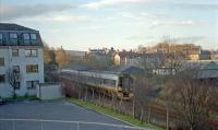 Sprinter running south through the former Bucksburn station.<br><br>[Ewan Crawford //]