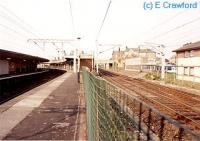Looking north at Carnforth station. The WCML half, to the right, is out of use.<br><br>[Ewan Crawford //]