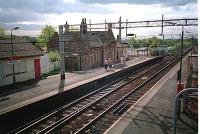 Bishopton station looking northeast. The building has been re-built since.<br><br>[Ewan Crawford //]