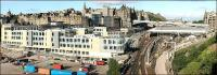 With the old office block of New Street bus depot now demolished the full impact of the new Edinburgh council HQ on this part of the Old Town can be clearly seen in this 23 July 2006 panorama.<br><br>[John Furnevel 23/07/2006]