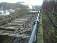 Looking below to the operational railway ... notice the old line to the right.<br><br>[Colin Harkins 04/02/2006]