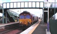 66203 quietly pulls the Longannet empties through Camelon, this service will be diverted via Stirling in the new year.<br><br>[Brian Forbes 19/09/2006]