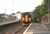 A Glasgow Central - Carlisle train arriving at Annan on 12 October 2006.<br><br>[John Furnevel 12/10/2006]