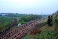 Some site clearance has taken place at Cowlairs (distant on right).<br><br>[Ewan Crawford 17/10/2006]