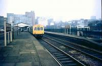 A DMU stands at Birmingham Moor Street in 1981.<br><br>[Ian Dinmore //1981]