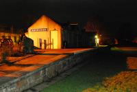 Aberlour by night. Since my last visit the goods shed has vanished.<br><br>[Ewan Crawford 27/01/2007]