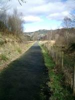 Route of Strathendrick and Aberfoyle Railway, now walkway, from Gartmore looking toward Aberfoyle.<br><br>[Alistair MacKenzie 22/03/2007]