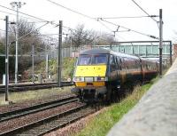 GNER Edinburgh - London train about to pass Craigentinny sidings on 21 March 2007.<br><br>[John Furnevel 21/03/2007]
