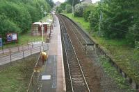 View east over Corkerhill station on 20 May 2007 from Corkerhill Road bridge. [See image 19972]<br><br>[John Furnevel 20/05/2007]
