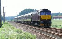47854 approaches Bow of Fife crossing bound for Keith. The first leg of the five day Classic Tour, using the Royal Scotsman set.<br><br>[Brian Forbes 18/06/2007]