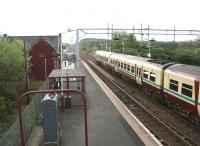 View from the footbridge towards Glasgow in April 2007. A train for Wemyss Bay has recently arrived at platform 2.<br><br>[John Furnevel 29/04/2007]