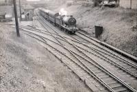 N.B.R. 0.6.0 64542 approaching Alloa on special working. [Railscot note: view looks west with harbour branch to left.]<br><br>[G H Robin collection by courtesy of the Mitchell Library, Glasgow 16/06/1951]