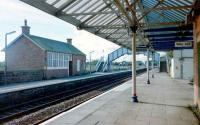 Annan in October 1997 showing the former station building on the northbound platform.<br><br>[David Panton /10/1997]