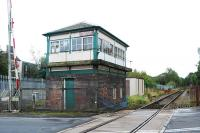 Gate-box to the Burnley side of Brierfield on the Colne line in October 2007. The box closed in 2014 and was demolished.<br><br>[Ewan Crawford 07/10/2007]