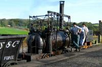Scene at Beamish on 18 October 2006 as ye crew of William Hedleys 1813 <I>Puffing Billy</I> replica prepares for the next tour of duty. <br><br>[John McIntyre 18/10/2006]