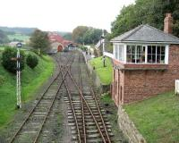 Quiet day at Beamish, looking back towards the station on 18 October 2006.<br><br>[John McIntyre 18/10/2006]
