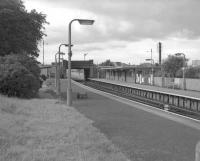 Scene at Corkerhill station in the 1960s, looking west towards the bridge carrying Corkerhill Road.<br><br>[Colin Miller //]