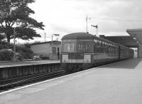 An Eastbound DMU calls at Corkerhill station en route to St Enoch  in 1963.<br><br>[Colin Miller //]