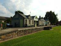 Aberlour Station is now a tearoom run for the local community by volunteers during the summer.There is also an information office for the Speyside Way.The area round about has been landscaped into a park and has been very tastefully done.<br><br>[John Gray 27/07/2008]