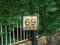 This milepost is still in place on the old trackbed half a mile north of Aberlour.<br><br>[John Gray 27/07/2008]