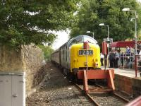 55022 <I>Royal Scots Grey</I> at the buffer stops at Paisley Canal during the SRPS <I>Routes & Branches</I> tour on 24 August 2008.<br><br>[Graham Morgan 24/08/2008]