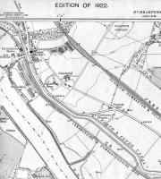 <B>Old Kilpatrick</B> Map of 1922 showing CR line at Old Kilpatrick and NBR alternative route which included Kilpatrick Station. My working life started in the Dunbarton County Architects Office in Ferry Road next to the, by then, closed station. The line had become a branch by then and there was a wagon repair facility next to our offices, the end of the branch line.<br><br>[Alistair MacKenzie 28/08/2008]