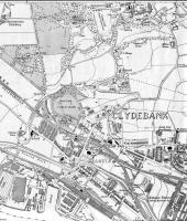 <B> Dalmuir </B> Map of 1922 showing NBR lines in Dalmuir including Dalmuir Riverside Station, next to which was the Beardmore Factory which was variously a ship builders, ship breakers and railway wagon breakers.<br><br>[Alistair MacKenzie 28/08/2008]