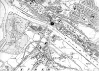 <B>Map of 1909 </B> to 1934 showing lines in Yoker and Renfrew.<br><br>[Alistair MacKenzie 28/08/2008]