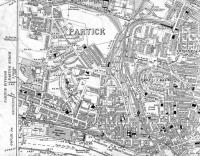 <B>Partick Area</B> Map of 1914 showing Hyndland, Crow Road, Partick and Partick West Stations also Merklands Wharf.<br><br>[Alistair MacKenzie 01/09/2008]