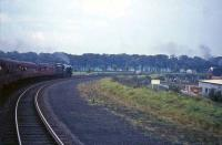 60532 <I>Blue Peter</I> near Canal Junction, Carlisle, with the <I>A2 Farewell</I> Railtour of 8 October 1966<br><br>[G W Robin 08/10/1966]