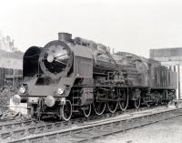 Regarded by many as one of the world's greatest steam locomotive engineers, Andre Chapelon retired as Engineer-in-Chief of the SNCF in 1953. Part of his legacy, one of the legendary SNCF 231K Pacifics, is seen here at Steamtown, Carnforth in the 1970s. Chapelon died in 1978.<br> <br><br>[Colin Miller //]