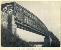 Great Siberian Railway between Vladivostock and St Petersburg and eventually Murmansk. Bridge over River Belaya. [Extract from GSR Guide of 1900]<br><br>[Alistair MacKenzie //2009]