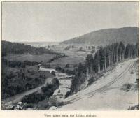 Construction of the Great Siberian Railway between Vladivostock and St Petersburg and eventually Murmansk. The view near Ufalei Station. [Extract from GSR Guide of 1900]<br><br>[Alistair MacKenzie //2009]