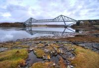 The Connel Bridge looking towards Loch Etive in February 2009.<br><br>[Norman Bews /02/2009]
