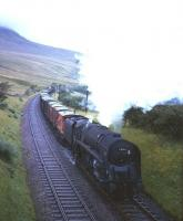 BR Standard class 9F no 92161 approaching Aisgill with a southbound freight circa 1961. [see EC image 7109]. <br><br>[Robin Barbour Collection (Courtesy Bruce McCartney) //1961]
