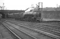 60532 <i>Blue Peter</i> backing out of Buchanan Street on 25 July 1966. The A2 is heading for St Rollox shed after bringing in the 1.30pm ex-Aberdeen train.<br><br>[K A Gray 25/07/1966]