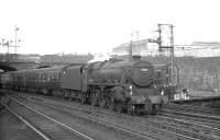 Black 5 no 45084 of Stirling South shed brings a train into Buchanan Street station in the summer of 1965.<br><br>[K A Gray 23/08/1965]