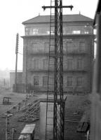 The imposing Canal Junction signal box, having seen better days and with demolition not far away, photographed in the sixties from a train leaving Carlisle on the Waverley route. <br><br>[Robin Barbour Collection (Courtesy Bruce McCartney) //]