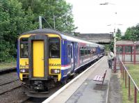 156 449 pulls in to Corkerhill with a Glasgow Central service 20 June 2009<br><br>[David Panton 20/06/2009]
