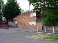 The errr... <I>functional</I> entrance to Coatdyke station in July 2009. <br><br>[John Steven 08/07/2009]