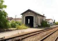 The surviving locomotive shed at Cognac photoraphed on 7 September 2009.<br><br>[Peter Todd 07/09/2009]