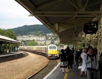 A class 67 arrives at Bath with <I>The Northern Belle</I> in August 2007.<br><br>[Bruce McCartney 28/08/2007]