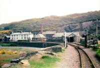 Boston Lodge Works on the Ffestiniog Railway, view east in 1968. <br><br>[John Thorn /05/1968]