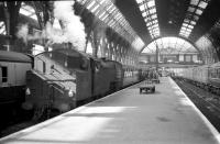 Inside the trainshed of the former Bradford Exchange station in the 1960s. [See image 25061]<br><br>[Robin Barbour Collection (Courtesy Bruce McCartney) //]