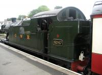 Ex-GWR 2-8-0 tank no 4247 at Bodmin General on the Bodmin and Wenford Railway in August 2008.<br><br>[Bruce McCartney 28/08/2008]