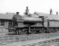 Last of the line. An ex-GNR class J6 0-6-0, no 64226, photographed one month before it became the last member of the class to be withdrawn. The locomotive is seen here on 20 May 1962 standing outside the foreman's office at Copley Hill shed, Leeds. Following its withdrawal from 56C the J6 was cut up at Doncaster Works towards the end of June. Copley Hill shed closed in September 1964.<br> <br><br>[David Pesterfield 20/05/1962]