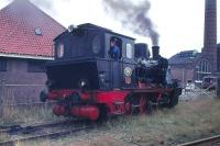 No 4 at Boekelo in August 1978. Located on the Burtspoorweg Museum Railway between Boekelo and Haarksbergen, northern Holland, close to the German border. [Locomotive 0-6-0wt, Hanomag 1925, Factory no 10431.]<br> <br><br>[Peter Todd 12/08/1978]