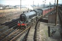 B1 4-6-0 no 61146 with a train of empty stock for Waverley leaving Craigentinny sidings on 30 September 1959. <br><br>[A Snapper (Courtesy Bruce McCartney) 30/09/1959]